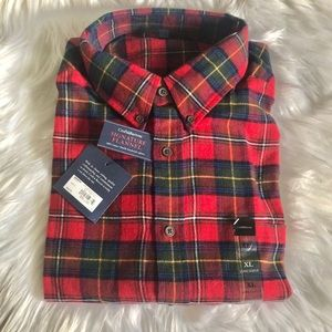 NWT MENS WOVEN FLANNEL SHIRT SIZE XL